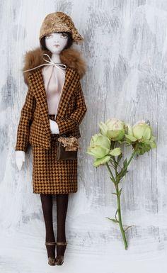 """Olivia"" cloth doll by Bambolica, 2014"