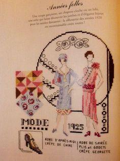 0 point de croix mode  1925- cross stitch fashion 1925