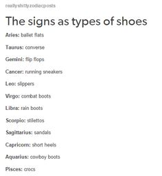 The Zodiac Signs as Types of Shoes. Cancer ♋ Zodiac Sign - Running sneakers