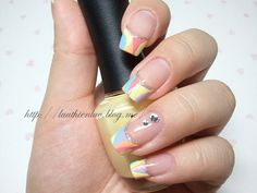 french nailart  click through for tutorial (in my korean blog)