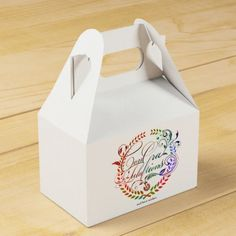 Congratulations and best wishes (color ver.) favor box