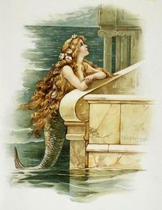 The Little Mermaid Illustration by Eddie J. Andrews : Custom Wall Decals, Wall Decal Art, and Wall Decal Murals   WallMonkeys.com