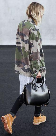 Camo Utilility Jacket Fall Street Style Inspo by By Kiki