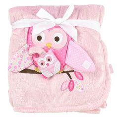 "Babies R Us Valboa Blanket - Pink Owl - Babies R Us - Babies ""R"" Us"