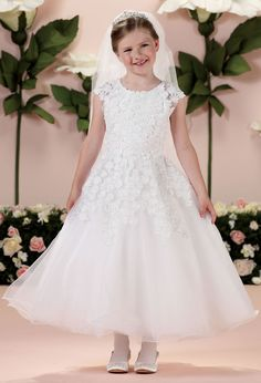 JOAN CALABRESE Flower Girl Dresses, Designer Special Occasion Wear for Girls at www.TheRoseDress.com/FlowerGirl