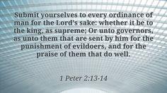 Daily Bible Verse 1 Peter 2:13-14