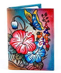 Look what I found on #zulily! Biacci Blue Hand-Painted Leather Wallet by Biacci #zulilyfinds