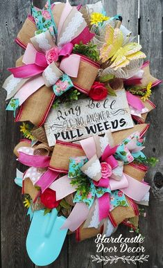 Great Mothers Day Gifts, Mother Day Gifts, Floral Ribbon, Floral Wreath, Beautiful Pink Roses, Tulle Wreath, Patriotic Decorations, Burlap Ribbon, Porch Signs