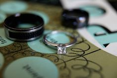 See about getting the wedding bands and engagement ring together.