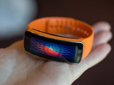 Another piece of wearable tech from Samsung to be released in April: Gear Fit: there's a heart rate monitor, message notifications, and remote music controls are onboard. Interested to see the future of wearable tech gadgets!