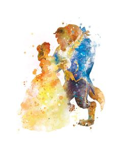 Beauty and the Beast Art Print Belle Disney Art Disney by sPRINNT