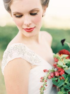 Blushing bride: http://www.stylemepretty.com/2015/11/01/moody-bridal-makeup-looks-made-for-a-fall-wedding/