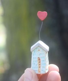 Tiny+House+with+Heart+stoneware+clay+carved+and+by+RaincrowPottery