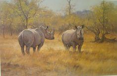 Paintings african wildlife artist Dino Paravano.