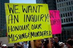 An inquiry into McDonald's, but no inquiry into the murdered aboriginal women