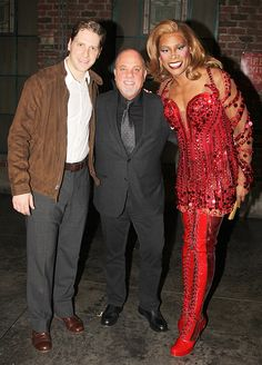 Billy Joel poses with Andy Kelso & Billy Porter at KINKY BOOTS