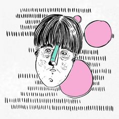 Korean Bowl-cuts www.uncouthkat.com #portrait #illustration #simple #contemporary
