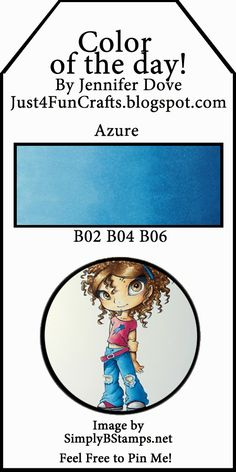 Color of the Day 75 - Just4FunCrafts and DoveArt Studios