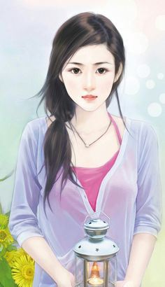 chinese girl y Beautiful Chinese Girl, Beautiful Anime Girl, Pretty Drawings, Art Drawings, Chinese Drawings, Lovely Girl Image, Painting Of Girl, Anime Love Couple, Digital Art Girl