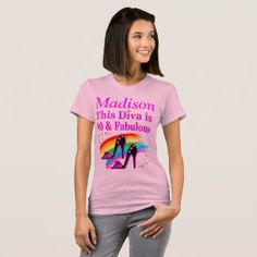 PINK 40 & FABULOUS PERSONALIZED 40 YRS OLD T SHIRT Enjoy our fabulous selection of 40th birthday gifts. Only at Zazzle! http://www.zazzle.com/jlpbirthday/gifts?cg=196901469086304704&rf=238246180177746410  #40thbirthday #40yearsold #Happy40thbirthday #40thbirthdaygift #40thbirthdayidea #happy40th #40thbirthday