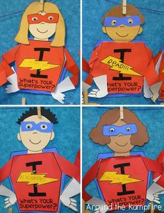Superhero writing craft for goal setting or end of year reflecting on learning SUPER powers! Superhero Writing, Superhero School Theme, My Superhero, School Themes, Classroom Themes, Classroom Resources, School Ideas, Primary Resources, Kindness Activities