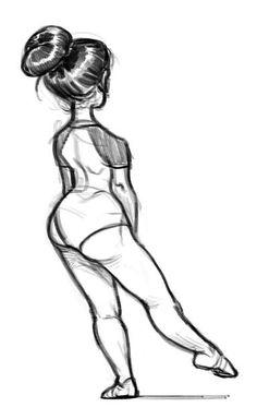 Ballerin - Back (jaja curioso, yo siempre me pongo así y muevo el pie cuando estoy mucho tiempo parada *-*)