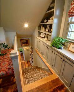 Attic Remodel - traditional - staircase - columbus - RTA Studio #DIYAtticRemodel
