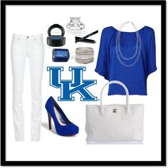 University of Kentucky Inspired Outfit, created by chrissyisawesome  #MarchMadness #Kentucky