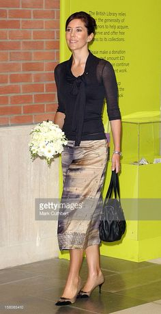 September 15, 2004--Crown Prince Frederik & Crown Princess Mary Of Denmark Attend The Launch Of Hans Christian Anderson 2005 At The British Library In London. .