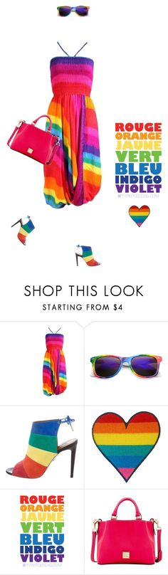 """""""Pride #683"""" by meryflower ❤ liked on Polyvore featuring Aquazzura, Dooney & Bourke, rainbow and pride"""