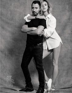 Anja Rubik with Anthony Vaccarello by Nico Bustos for Vogue Espana Sept. Mother Agency, Anja Rubik, Anthony Vaccarello, Fashion Models, Couple Photos, Couples, Vogue Spain, Trends, Couple Shots