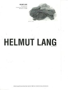 Helmut Lang - Silk Organza Dresses - Advert 1999 Fashion Typography, Fashion Branding, Creative Communications, Collage Art Mixed Media, Fashion Advertising, Graphic Design Print, Print Layout, Editorial Layout, Takashi Murakami