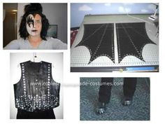 """Homemade Gene Simmons the Demon Costume: Coolest Gene Simmons the Demon Costume. It all started with a theme of """"The 70's"""" for our at work Halloween Bash, tie dye, hippie, Go-Go Girl, Disco Diva…."""