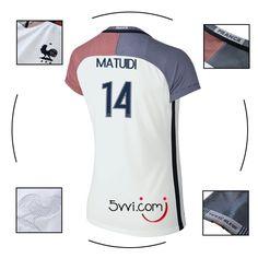 Boutique officielle maillot france (14 MATUIDI) extérieur femme euro 2016 2017 grossiste