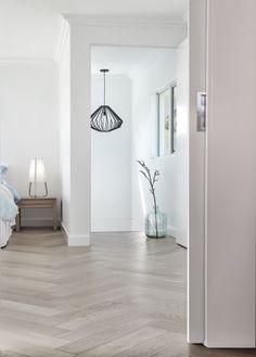 Herringbone European Oak Parquetry Floors White Wood Floors, Oak Hardwood Flooring, White Flooring, Laminate Flooring, Living Room Flooring, Bedroom Flooring, Living Rooms, Planchers En Chevrons, Floor Design