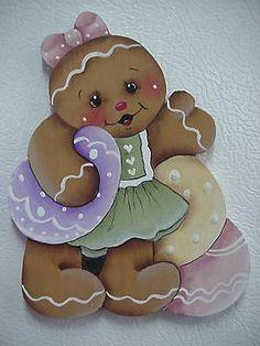 HP~~Gingerbread Girl with EASTER EGGS ~ Fridge Magnet