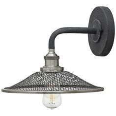 """Hinkley Rigby 8 1/2""""H Aged Zinc Barn Light Wall Sconce - #1R557   Lamps Plus"""