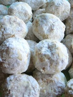 Mexican Wedding Cookies + many more Christmas cookie recipes...chocolate crinkle, ginger, cream cheese spritz, shortbread, butterscotch gingerbread, classic sugar cutout, cookie dough truffles, pumpkin cream cheese muffins