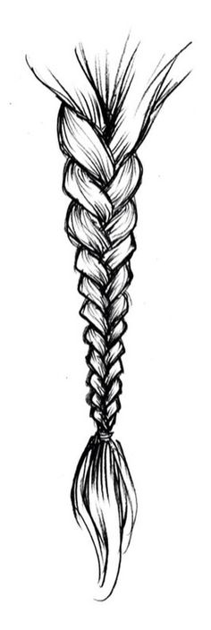erstaunliche Haarzeichnung Ideen & Inspiration – Brighter Craft - New Site Drawing Techniques, Drawing Tips, Drawing Sketches, Painting & Drawing, Drawing Ideas, Braid Drawing, Sketching, Easy Sketches To Draw, Simple Sketches