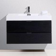 "Found it at AllModern - Bliss 40"" Single Wall Mount Modern Bathroom Vanity Set"