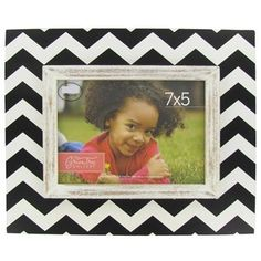 You captured that special moment now showcase it in this classic Black & Cream MDF Rustic Chevron Picture Frame.