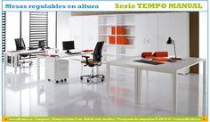 Mesas de oficina regulables en altura.   Muebles y sillas de oficina.