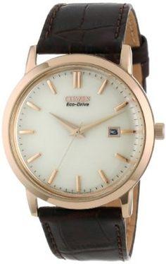 Citizen Men's BM7193-07B Eco-Drive Rose Gold Tone Date Watch