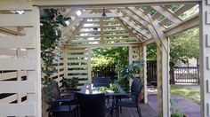 #Pergola made from pallets - http://dunway.info/pallets/index.html