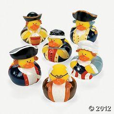 Patriotic ducks for your social studies/history classroom