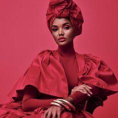Queen! @halima for @essence  @africanprintsinfashion  - African American Art, African Women, African Art, African Fashion, African Origins, Powerful Women, Most Beautiful, Ruffle Blouse, Female