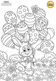 Easter coloring pages - Uskrs bojanke za djecu - Free printables, Easter bunny, eggs, chicks and more on BonTon TV - Coloring books Easter Coloring Pictures, Easter Coloring Sheets, Easter Colouring, Coloring Pages For Kids, Free Printable Coloring Pages, Coloring Book Pages, Free Printables, Easter Activities, Easter Games