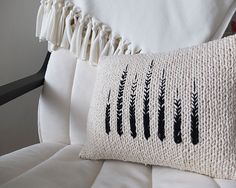 Ravelry: Monochrome Knit Pillow pattern by Kate Smalley of Tracing Threads