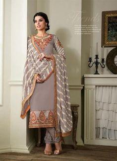 Gray Georgette Salwar Kameez ,Indian Dresses