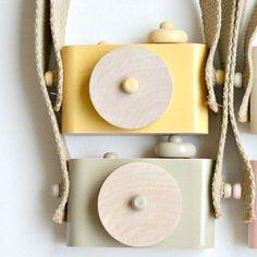 Wood Toy Cameras.